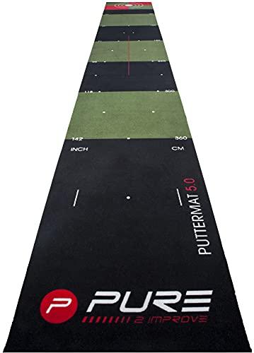 Pure2Improve P2I140010 Alfombrilla de Golf, Verde, 65x300 cm