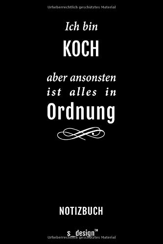 Notizbuch für Köche / Koch / Köchin: Originelle Geschenk-Idee [120 Seiten gepunktet Punkte-Raster blanko Papier]