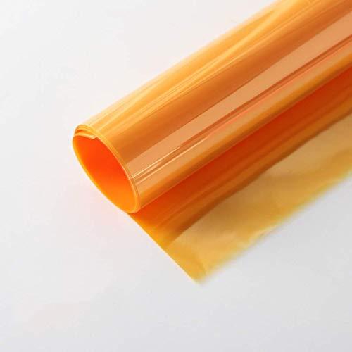 ZXL Gekleurde Cellophane, Valentijnsdag Boeket Inpakpapier Halloween Chocolade Snoep Transparant Inpakpapier 10 stks (Kleur: Geel, Maat : 58 * 58CM)