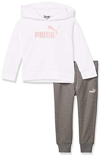 PUMA Toddler Girls' Fleece Hoodie Set, White, 3T