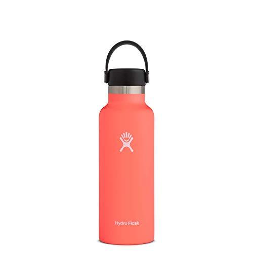 Hydro Flask Water Bottle - Standard Mouth Flex Lid - 18 oz, Hibiscus
