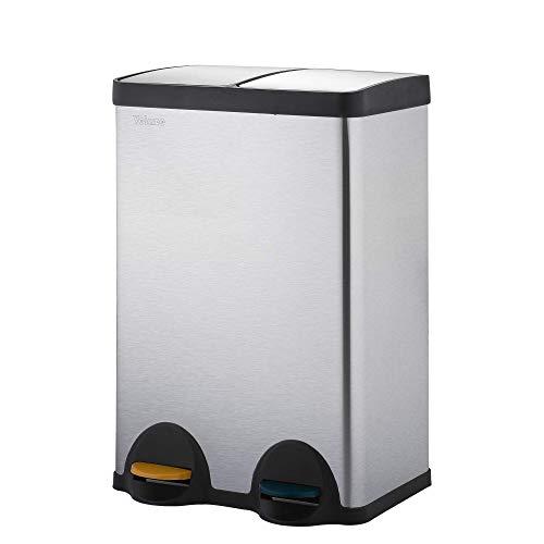 Velaze Cubo de Basura, Basurero de Reciclaje de Acero Inoxid