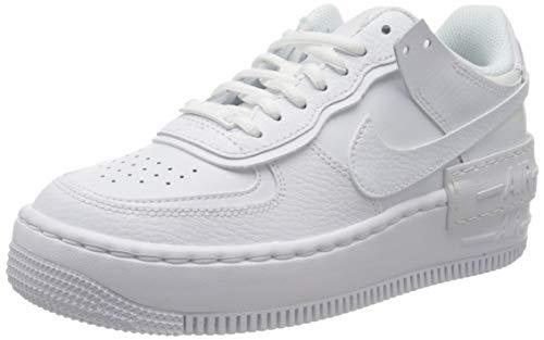 Nike W AF1 Shadow, Scarpe da Basket Donna, White/White-White, 40 EU