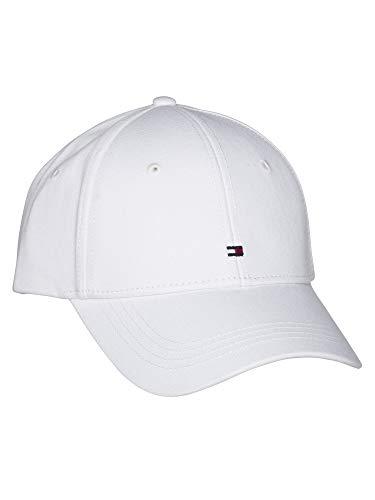 Tommy Hilfiger AW0AW09807-YBR - Gorra de béisbol para mujer, talla única, color blanco