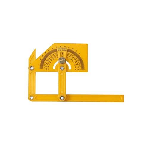 heacker 180 Grad-Winkelmesser Winkelsucher Rotary Meßlineal Foldable Winkelmesser 180 Grad, Winkelmesser Werkzeug, Winkelmesser für Handwerker Yellow