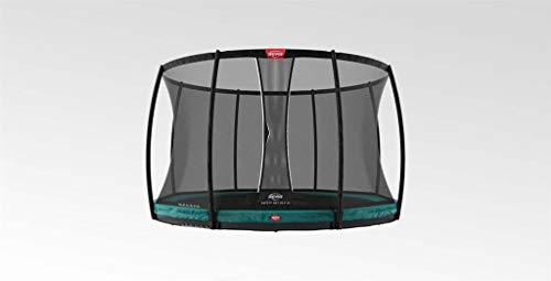 BERG Trampoline Inground Champion round 430 with Safety Enclosure Net Deluxe XL | Premium Trampoline, Kids trampoline, Longer Lifetime Warrenty, Jump higher with TwinSpring and Airflow