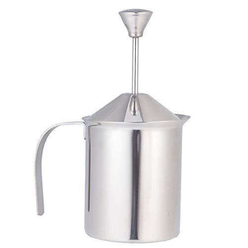 Hemoton Milchaufschäumer aus Edelstahl, manuell, für Cappuccino und Kaffee (800 ccm)