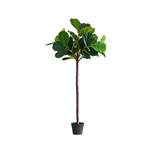 Yyqx Falsos nórdica árbol Ficus Lyrata Hoja Verde Ramas Ficus Lyrata Hoja del árbol Bonsai El Verde Decorativo Árbol Artificial (tamaño : 140cm B)