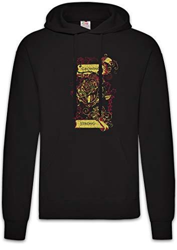 Urban Backwoods Growing Strong Hoodie Sudadera con Capucha Sweatshirt Negro Talla L