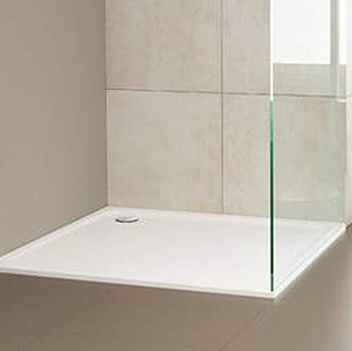 Lavada Design-in-Bad Set: Kaldewei Stahl-Duschwanne Superplan 390-2, 90 x 90 x 2,5 cm, weiß, Set mit Ablauf und Träger