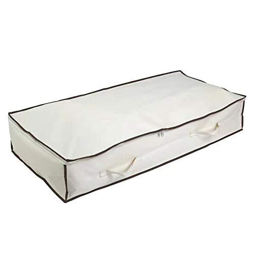 Qiluck Aufbewahrungstasche Unterbett für Decken, Bettwäsche, Bettdecken, Kleidung, Pullover, Unterbettkommode 100 x 75 x20 cm 150L 1 Stück (150L 1 Stuck)