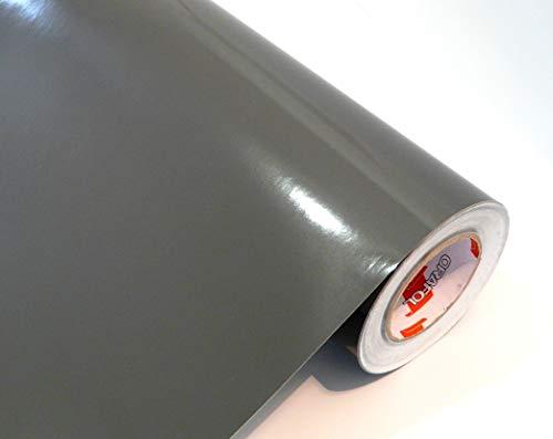 Neu tjapalo® Möbelfolie anthrazit hochglanz Küchenfolie Bastelfolie selbstklebend Türfolie Klebefolie zum basteln folie zum bekleben von möbel mit Anleitung, Farbe: dunkelgrau, Größe: L100xB63cm