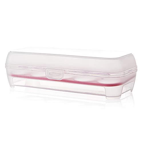 Milopon Eierleisten Eierhalter Eierablage für Kühlschrank Eier Aufbewahrungsbox Multifunktionsbox Transportbox Kühl Gefrierkombination Einbaukühlschrank (Rosa)