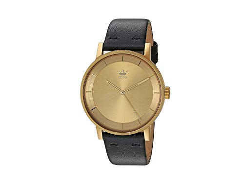 adidas Relojes Hombre District_L1.Genuine Correa De Cuero Watch, 20 Mm Anchura (Todo 0,40 Mm) Oro/Negro