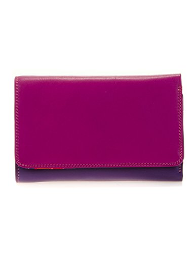 Mywalit - leder damen Geldbörse - medium tri-fold w/outer zip purse - 363-75 - sangria