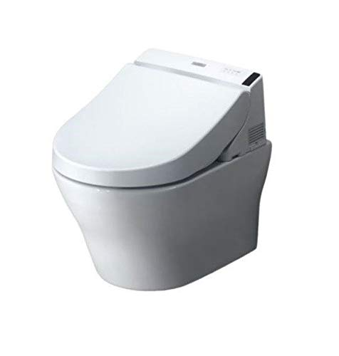 TOTO CWT4370247MFG-4#01 MH Connect+ Wall-Hung Toilet and C200 Washlet Bidet Seat, Dual Flush 1.28 0.9 GPF with Copper Supply, Cotton
