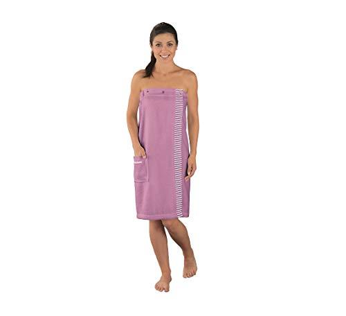 Schiesser Roma - Toalla de sauna para mujer, 100% algodón, color malva