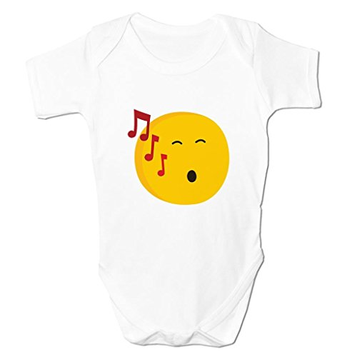 Funny Baby Grows Cute Baby Clothes for Baby Boy Baby Girl Bodysuit Vest Singing Face Emoticon