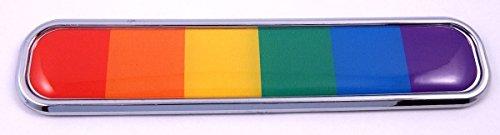 Pride Gay Lesbian Rainbow Flag Chrome Emblem 3D auto Decal car Bike Boat 5.3'