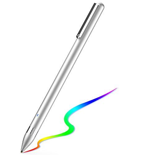 Active Stylus Stift für sämtliche Touchscreens. Wiederaufladbarer Eingabestift Pencil mit 1,45mm feiner Spitze, der kapazitive Stylus ist kompatibel für Apple iPad, iPhone & Samsung Tablets