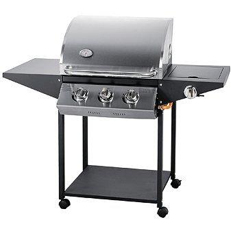Jet-line Barbecue à gaz Phoenix - Pour l'extérieur - 3 brûleurs - En acier inoxydable - Équipement de jardin