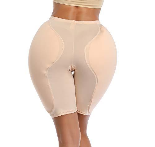 BIMEI 2PS Sponge Padded Women Butt Hip Up Padded Enhancer Crossdresser (M, Beige)