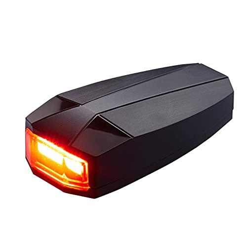YCDtop Alarma inalámbrica para Bicicleta, luz Trasera, luz Trasera para Ciclismo, LED, luz de Control Remoto para Bicicleta, Accesorios para Bicicleta, candado Recargable USB