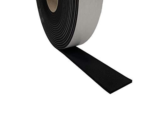 Advanced Acoustics EPDM Ruban adhésif d'étanchéité résistant – 50 mm de large 5 mm d'épaisseur par rouleau de 10 m de long