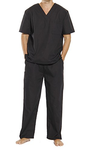 33300M-Black-L Tropi Unisex Scrub Sets / Medical Scrubs / Nursing Scrubs