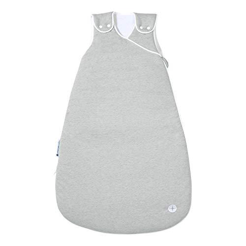 Babyschlafsack Ganzjahres 90cm | Grau 6-18 Monate | Baby-Schlafsack für 18-21° Raumtemperatur | Baby Schlafsack mit Füßen Alternative