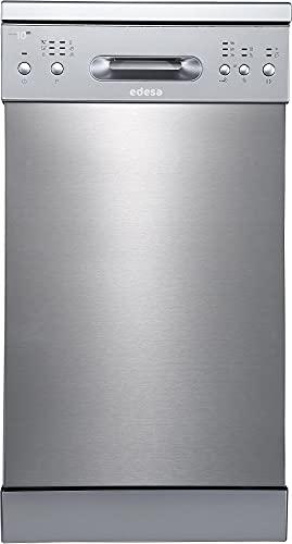 Edesa | Lavavajillas Libre Instalación | Modelo EDW-4610 X | Ancho de 45 cm | 6 Programas de Lavado | Clase de eficiencia Energética E(10) | Acabado en Acero Inoxidable