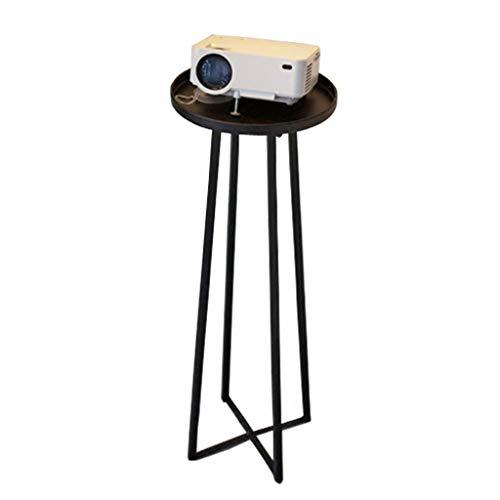 Table Basse en Fer Forgé Ronde Table Basse Canapé Table D'appoint Stable Antidérapante Salon Simple Table Basse (Color : Black, Size : 70 * 27 * 27cm)