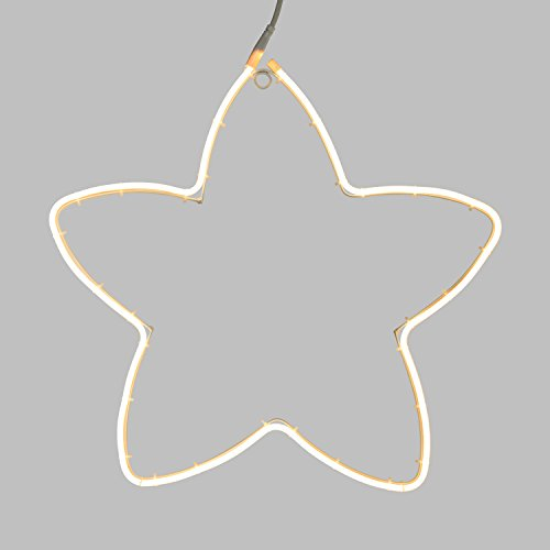 Figura luminosa, estrella efecto neón Ø 58 cm, 240 LED blanco cálido,...