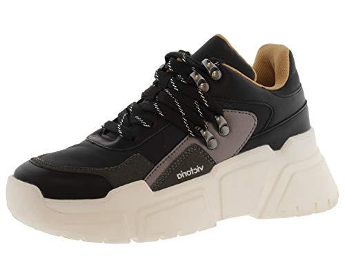 victoria Plano VICTORIA Sneaker Totem Nylon Piel Vegana 1149100-WOMEN para Mujer Negro 41