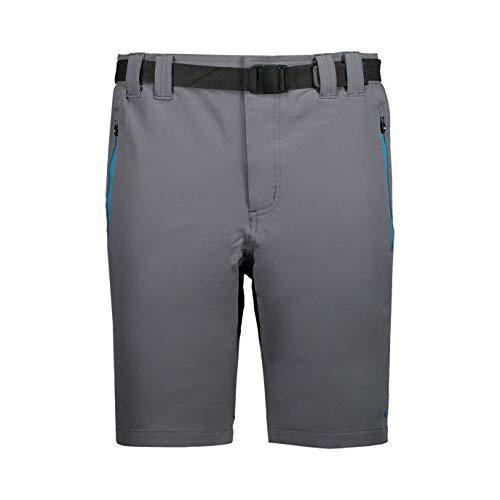 CMP Outdoor Bermuda Stretch, Hombre, Grey-Blue Teal, 48