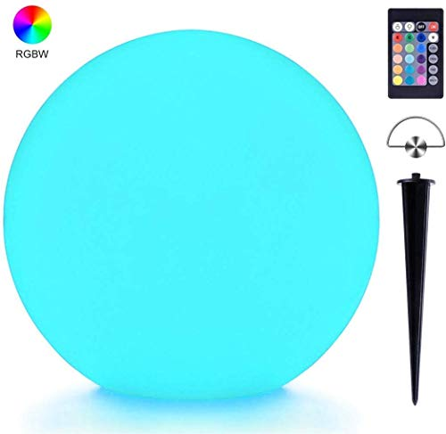 LOFTEK LED Ball Light, 8-inch RGB Colors Changing Floating Pool Lights, IP68 Waterproof Glow Orb,Upgraded Rechargeable Battery, Hanging Glow Orb for Lawn,Patio or Pool