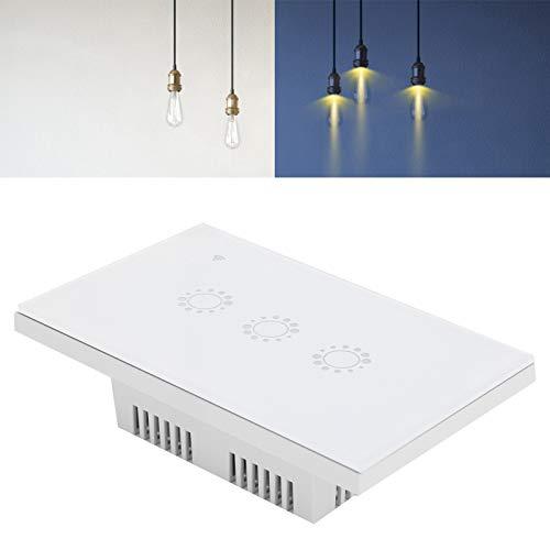 Yisenda Interruptor Inteligente, Interruptor WiFi de Control Remoto Muy práctico en su Vida Diaria Admite la operación de Control Remoto WiFi para interruptores en la mayoría de Las escenas