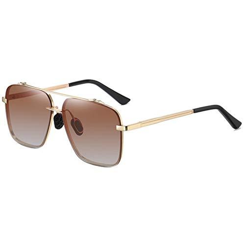 SXRAI Gafas de Sol Unisex Rectángulo Gafas de Sol polarizadas Uv40