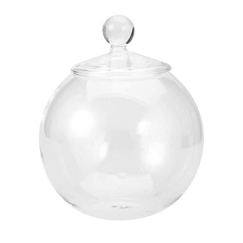 1 Set Diametro 10 cm Trasparente Micro Carne briopide Paesaggio Vaso in Vetro Bottiglia con Coperchio accoglienza Matrimonio Decorazioni Artigianali – Trasparente