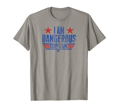 Top Gun I Am Dangerous T-Shirt, Men, Women, many colors, S to 3XL