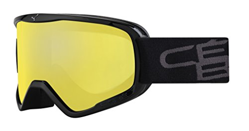 Cébé Skibrille Razor, Schwarz (Black/Yellow), L, CBG61