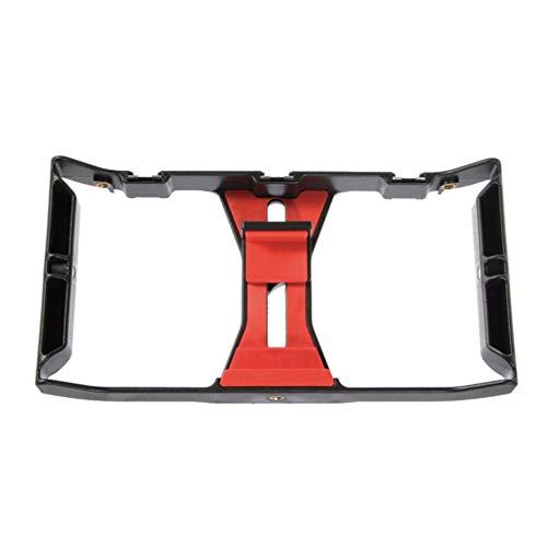 VILLCASE Estabilizador de Câmera Portátil para Celular para Criador de Vádeo (Preto Vermelho)