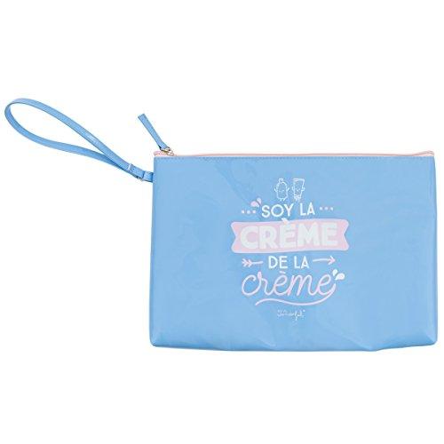 Mr. Wonderful Soy La Creme De La Creme Neceseres, 30 cm, litros, Azul
