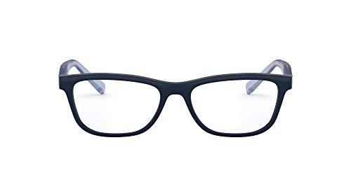 Armani Exchange AX3068F Cat Eye Brillenrahmen, Blau/Demo Linse, 52 mm