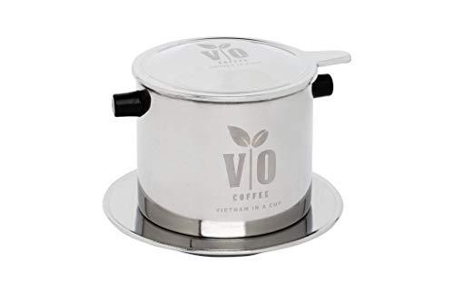 VO Coffee Filtro de café vietnam grande (para 2 – 3 personas) de acero inoxidable (juego de filtros de café) para cafetera tradicional de Vietnam.