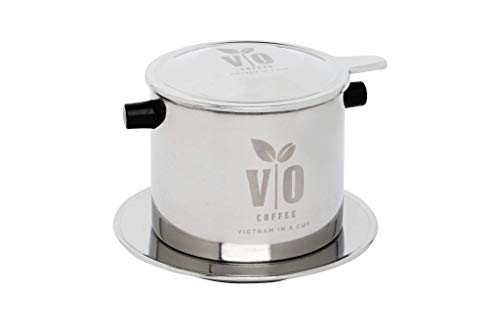 VO Coffee - Filtro de café vietnamita (Acero, tamaño Grande, para 2-3 Personas)