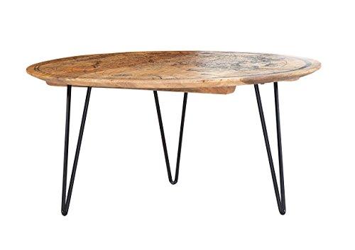 Stylefurniture Couchtisch, Mangoholz, Durchmesser 90 x 44 cm