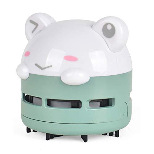 Mini Lindo Teclado para Mascotas, Pluma, Borrador, Limpiador de Polvo, pequeña aspiradora de Escritorio Luminosa con Carga USB