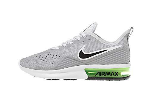Nike Men's Air Max Sequent 4 Running Shoe, White/Dark Grey/Lime Blast, 12 Women/9.5 Men