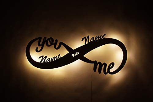 Namofactur Infinity I Love You LED Light Wall Hanging – Romantic Gifts for Any Couple -...